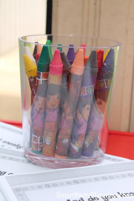 Dora Colouring Station