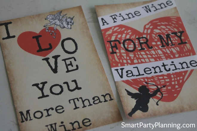 Fine Wine For My Valentine Wine Labels