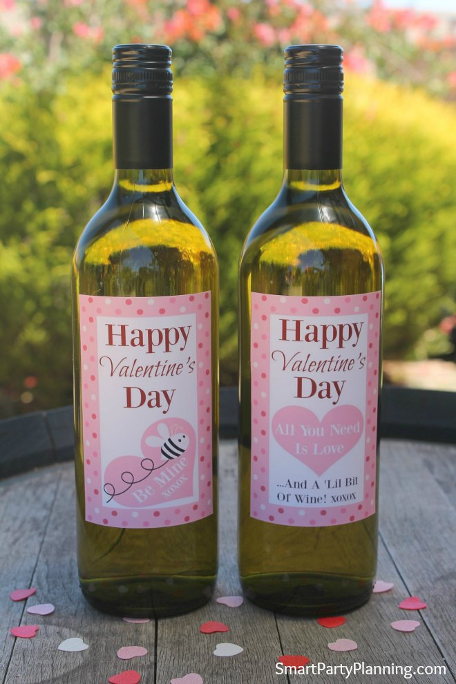 Printable Valentines Wine Labels