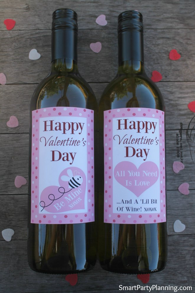 Free Valentines printables for wine bottles