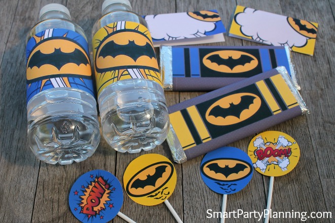 Batman printable set