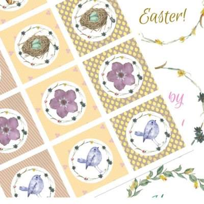 Free Easter Printables: Toppers & Cards