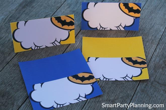 Batman food labels