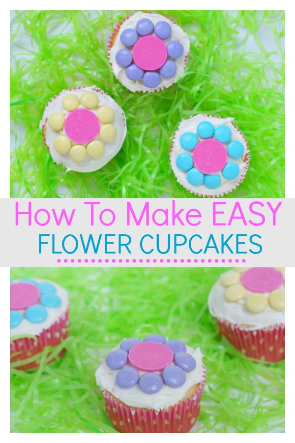 how to make easy spring flower cupcakes