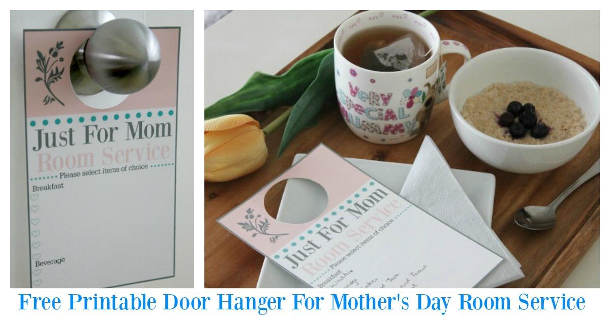 Free printable mother's day door hanger