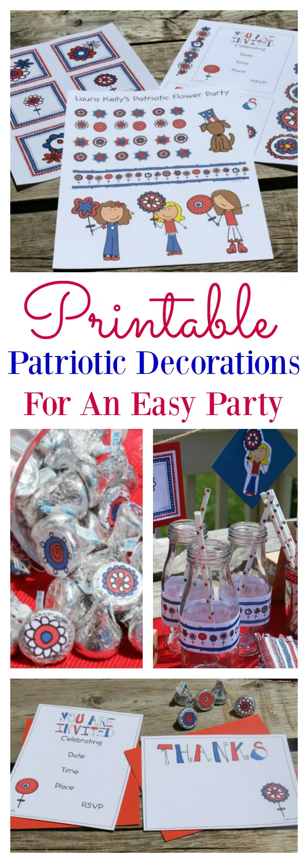 Printable patriotic decorations