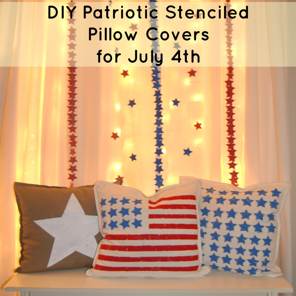 Stenciled Patriotic Pillows