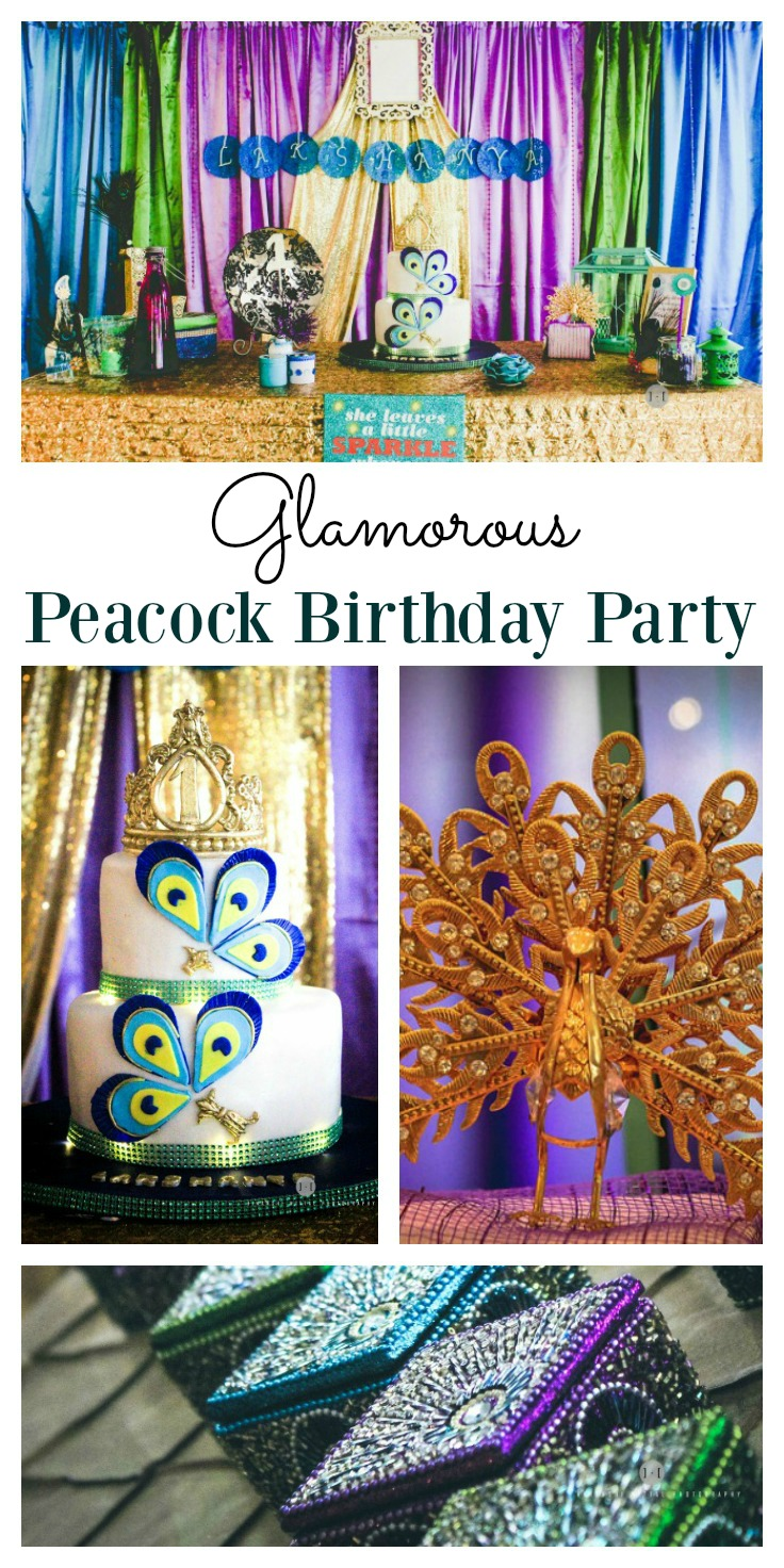 Glamour Peacock Birthday Party