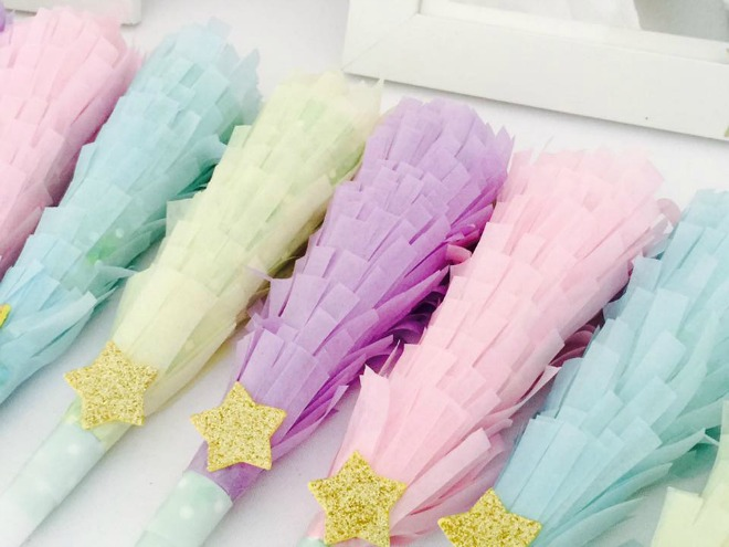 Pastel party wands