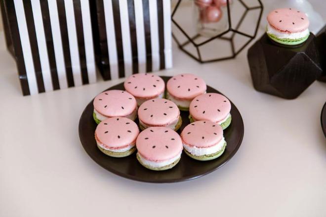 Watermelon macarons