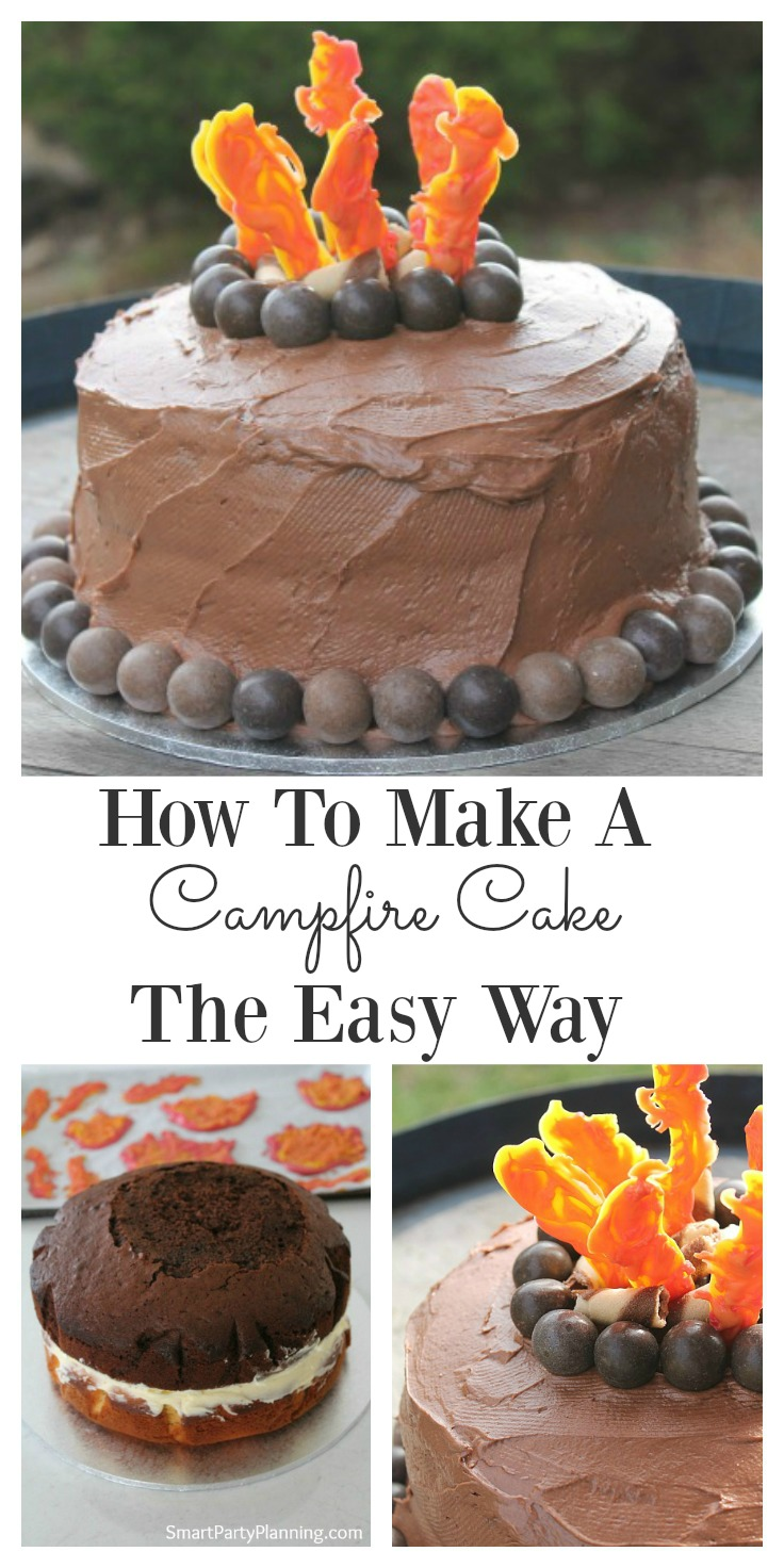 Awesome How To Make A Campfire Cake The Easy Way Funny Birthday Cards Online Alyptdamsfinfo