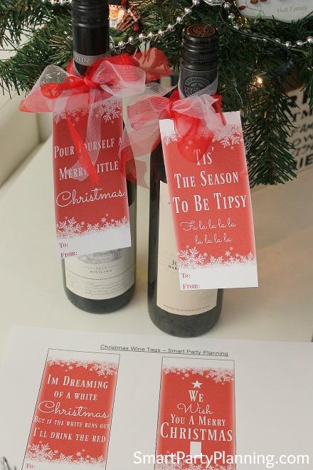 DIY Christmas Wine Tags
