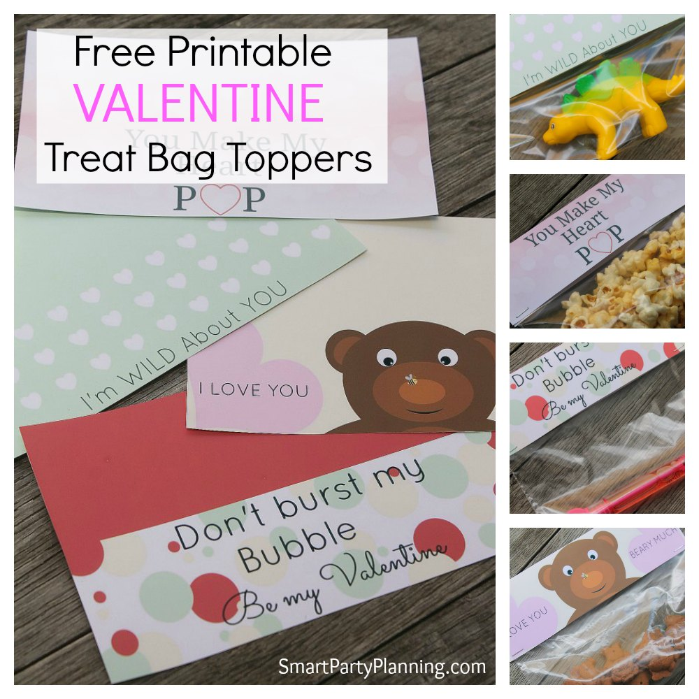 valentine treat bag toppers make an easy gift that the kids love use the free - Valentine Treat Bag Ideas