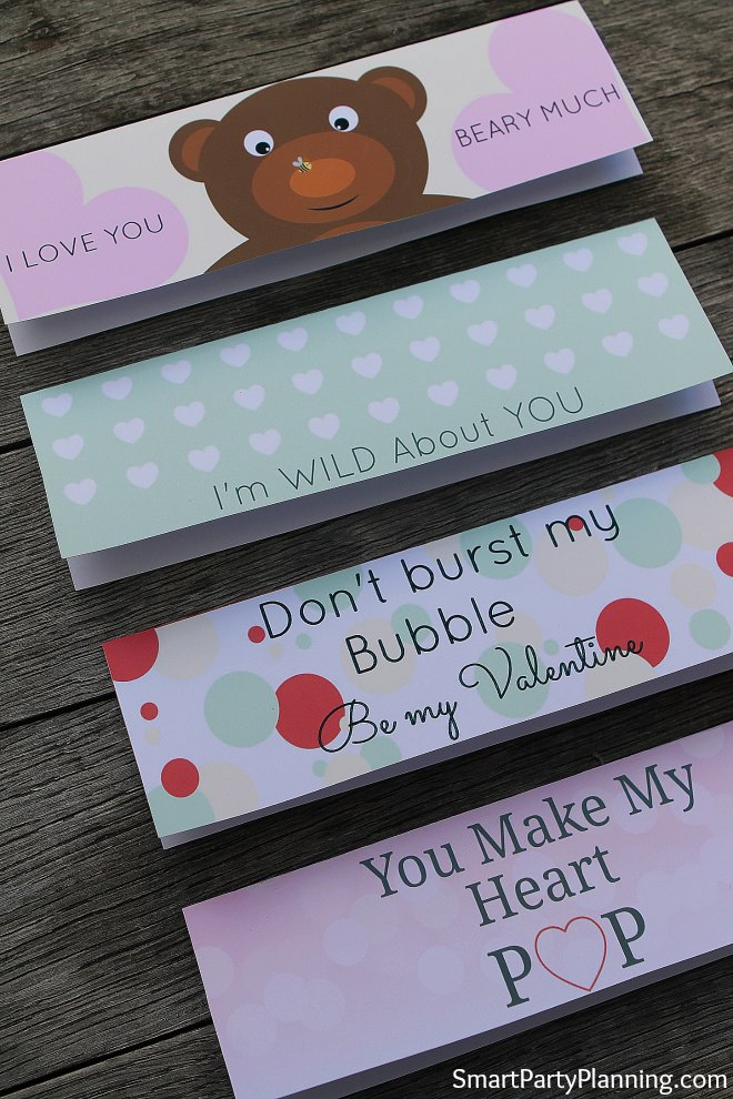 Cute Ideas for Valentines printables. Treat Bag Toppers