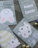 4 Printable Easter Cards