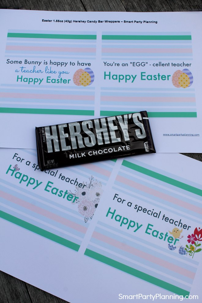 Easter Hershey Bar Wrappers
