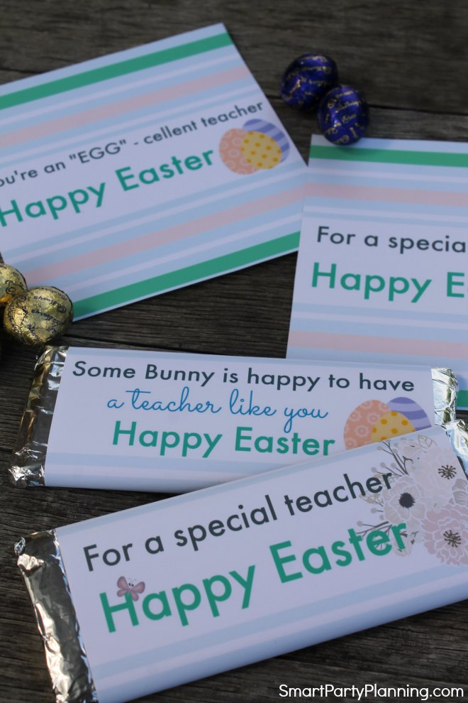 Easter teacher hershey bar wrappers