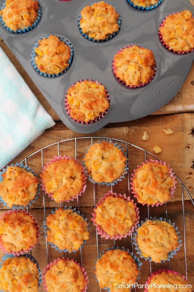 Easy sweetcorn muffins recipe for kids