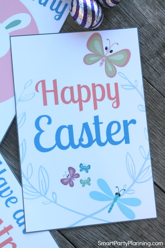 Happy Easter lunch box note