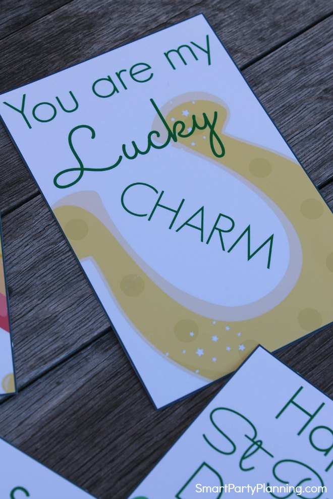 You are my lucky charm lunch box note