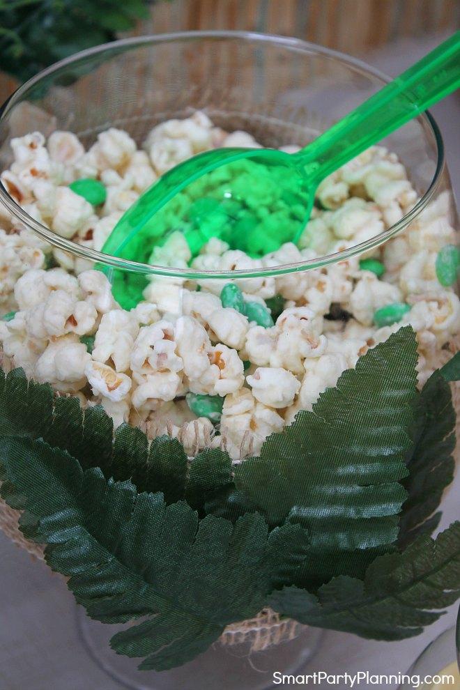 Bowl of chunky monkey popcorn