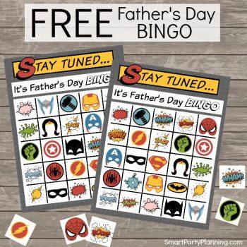 Fathers Day Bingo Printable