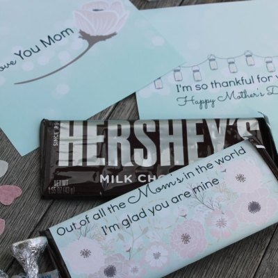 Free Mother's Day Candy Bar Wrappers She'll Love
