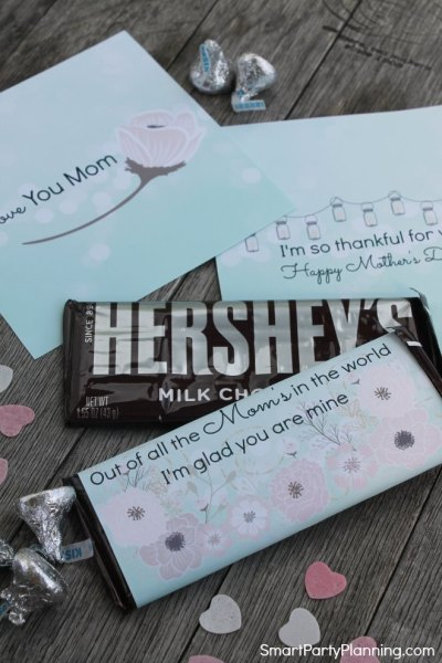 Mothers Day Hershey Wrappers