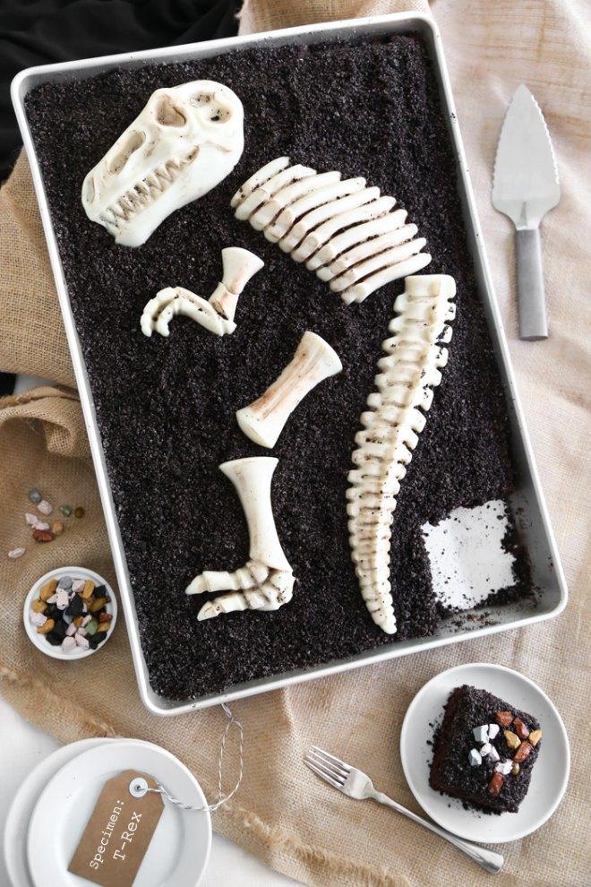 Dino dig cake