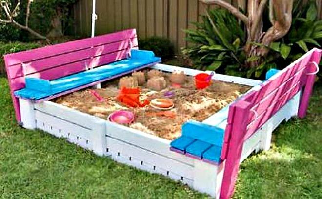 Pallet Sandpit