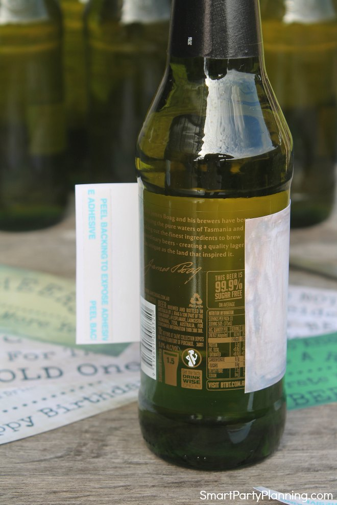 It's just a picture of Declarative Remove Labels From Beer Bottles