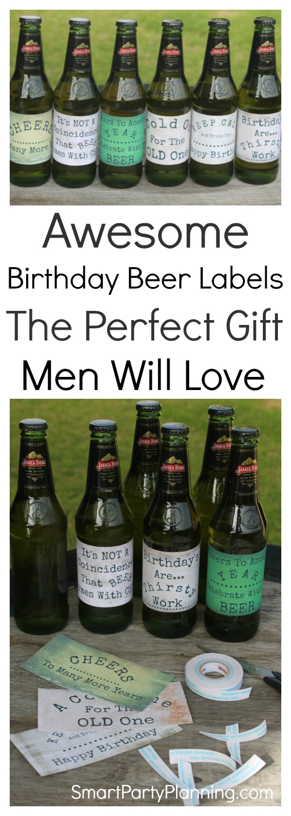 Grab an awesome printable beer label design perfect for birthday's. The guys will absolutely love it.  Whether it's for dad's birthday, your husband, partner or brother, these beer labels are going to be a present that he will want to receive. Fun DIY gifts always make the best gifts, and this one is super easy to make. They would even be great for use at parties too. #Printablebeerlabeldesign #Beergift #Printable #Printablelabel