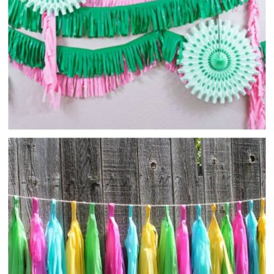 How To Easily Make Plastic Tablecloth Decorations Look Amazing