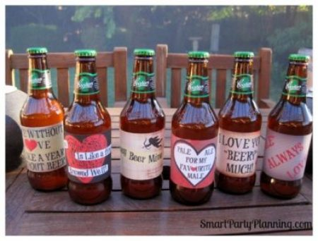 Valentine's Day Beer Labels