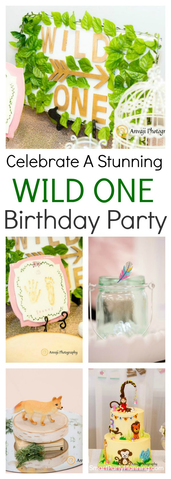 A wild one birthday party is a gorgeous theme that everyone will love.  It's full of life with a boho and tribal flair.  Decorations can be easily put together by keeping an earthy tone and choosing some of our favorite animals.  Boys and girls alike are going to love this theme and it's perfect for a first birthday.