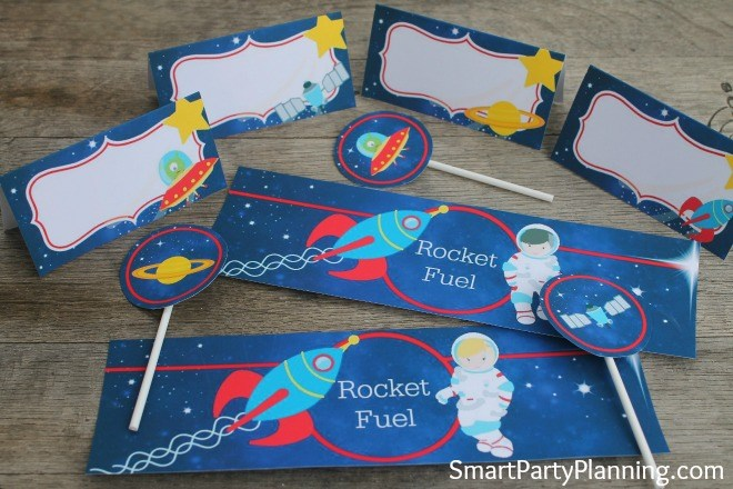Outer Space Party Printable Pack