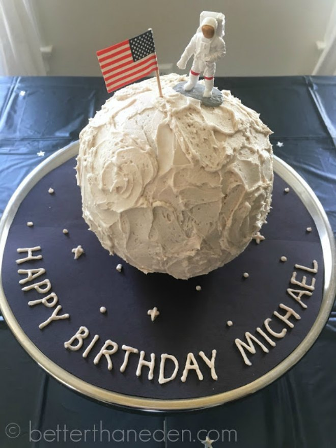Space birthday cake
