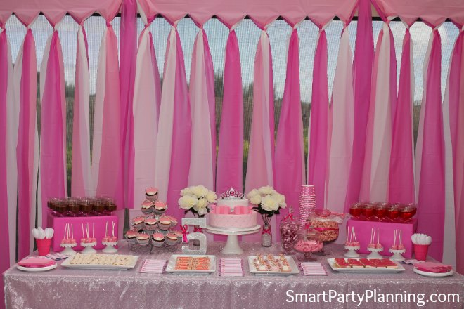 Princess Tablecloth backdrop on a budget