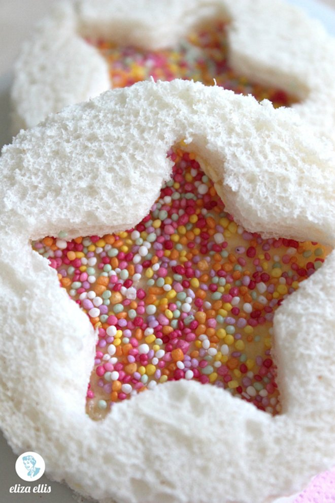 fairy bread decorative sandwich