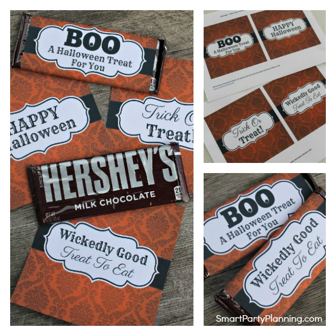 4 Spooky Halloween Candy Bar Wrappers