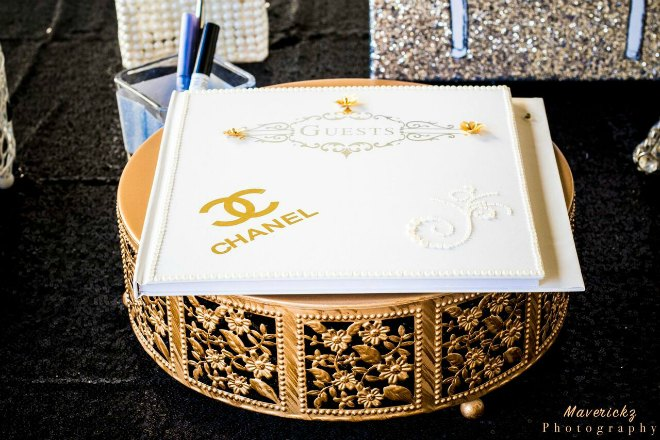 Chanel guest book