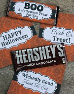 Halloween Hershey Bar Wrappers