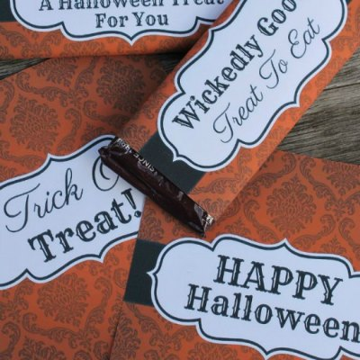 Free Halloween Candy Bar Wrappers that will be a Huge Hit