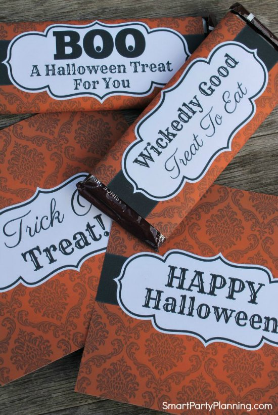 Spooky Halloween Candy Bar Wrappers