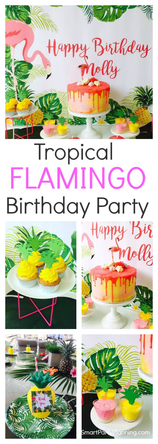 A gorgeous flamingo birthday party that will provide you with plenty of ideas to hold your own. This is one that the kids will love. Showcasing a stunning cake, delicious food and eye popping decorations. This is a party theme that will really stand out from the crowd. #Flamingobirthdayparty #DIY #Ideas #Easy #Kids