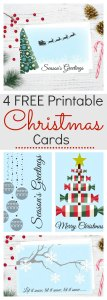 New Christmas card collection which are available for free with an instant download. Choose one or all four designs and send to family and friends who will love them. The simple design will make their day and it will also make you look super creative! Get your copy now. #Christmas #Card #Printable #Free