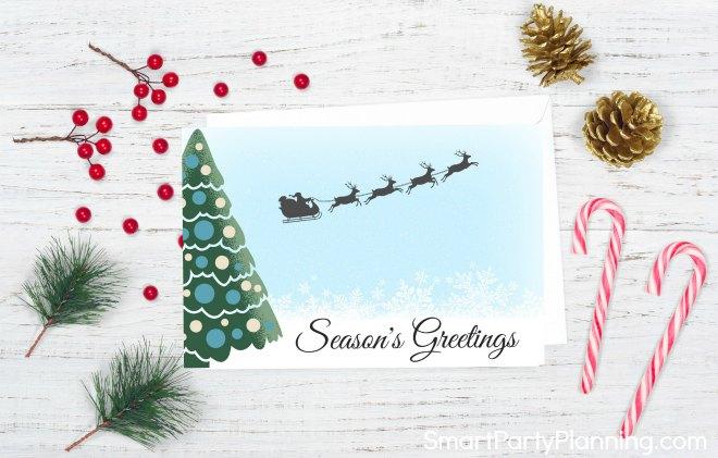 Christmas card style 1