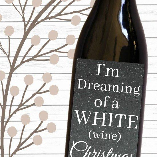 Christmas gift idea: Printable wine labels