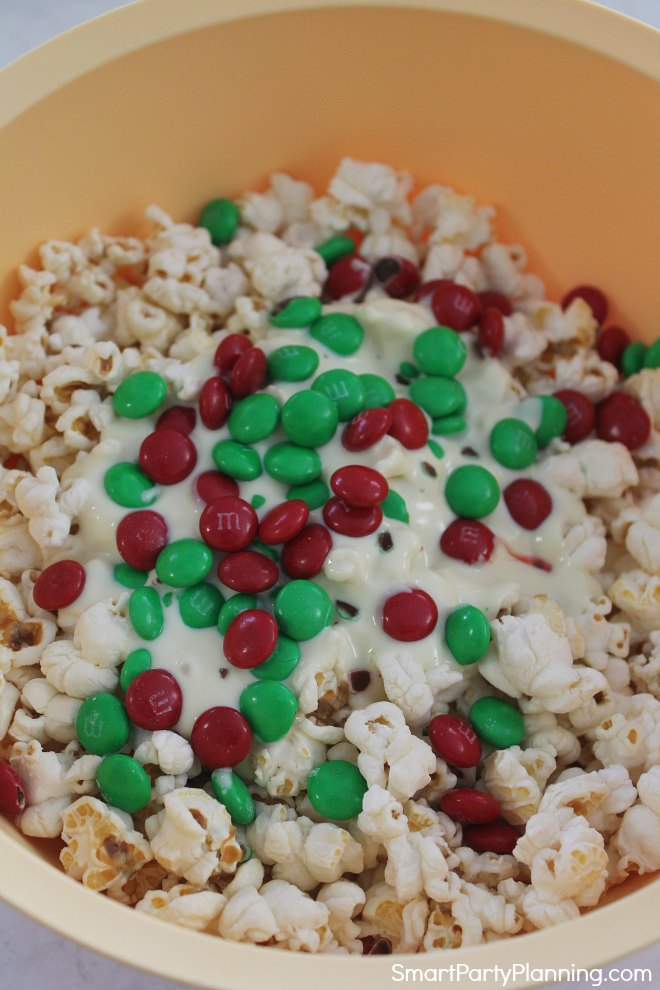 Mix white chocolate popcorn ingredients together