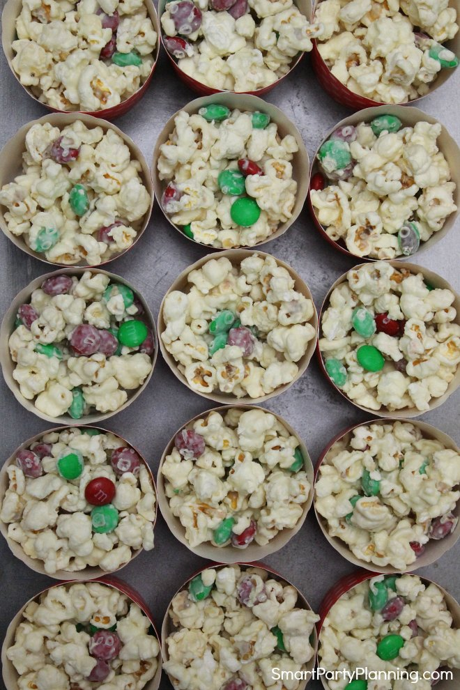 white chocolate popcorn snacks
